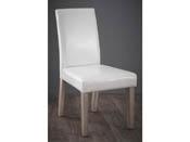 "Lot de 2 chaises ""Guevara Segur"" - 55.5 x 45 x 94 cm - Blanc"
