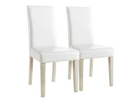 "Lot de 2 chaises ""Guevara Segur"" - Blanc"