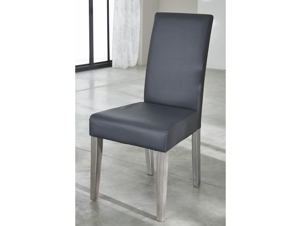 Chaise de s jour namur 44 5 x 56 5 x 95 cm gris 80751 for Chaise de sejour