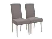 """Lot de 2 chaises de séjour """"Marquise"""" - Marron clair"""