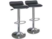 "Lot de 2 tabourets de bar ""Dan"" - Noir"