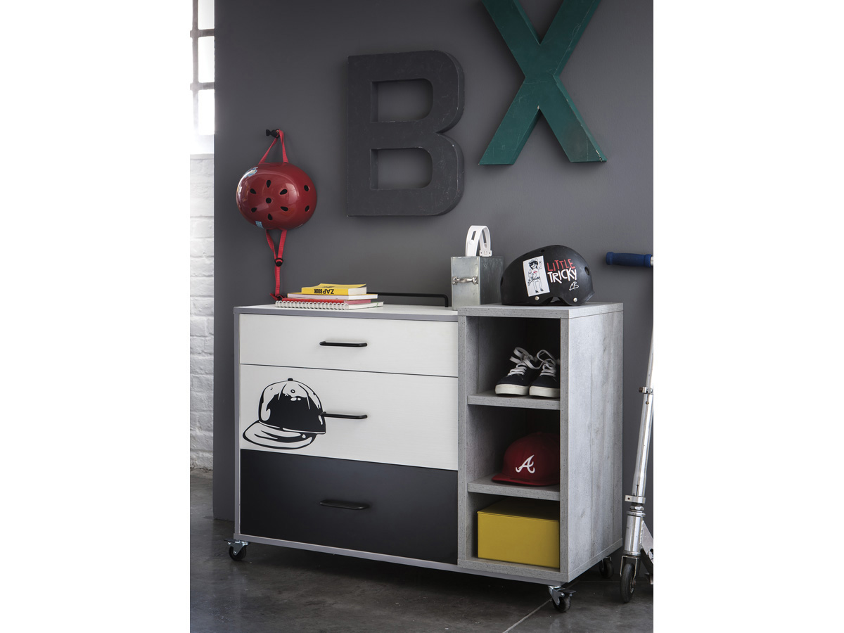 Commode Street - 100,5 x 41,5 x 78,4 cm - Béton