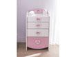"Commode "" Anastasia"" blanc perle 4 tiroirs - 53,0 x 91,2 x 43,9 cm"
