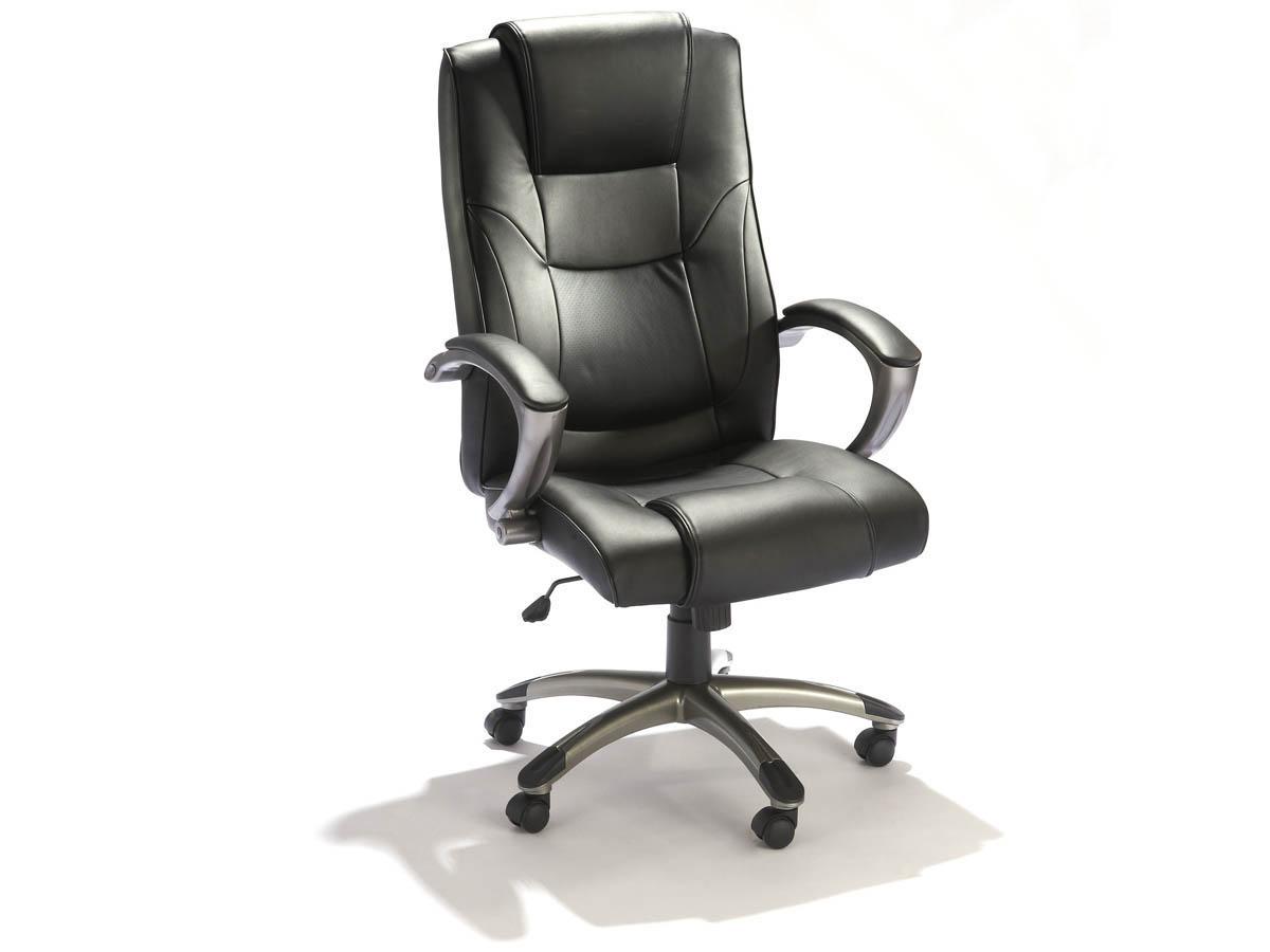 fauteuil de bureau ministre c to noir 68651. Black Bedroom Furniture Sets. Home Design Ideas