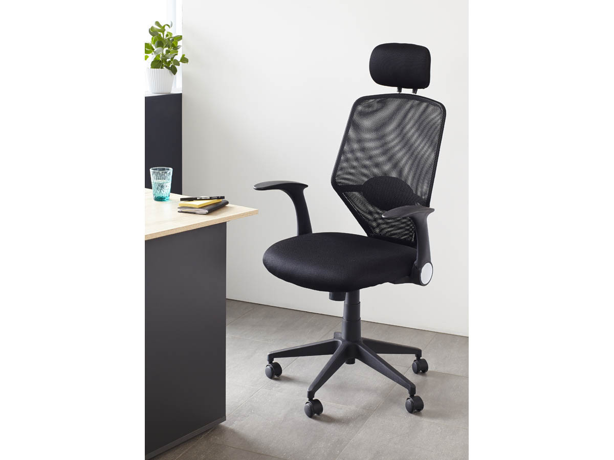 fauteuil de bureau ministre galleon noir 68652. Black Bedroom Furniture Sets. Home Design Ideas