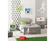 "Lit ""Foot"" - 96 x 202.8 x 80 cm - Coloris blanc perle"