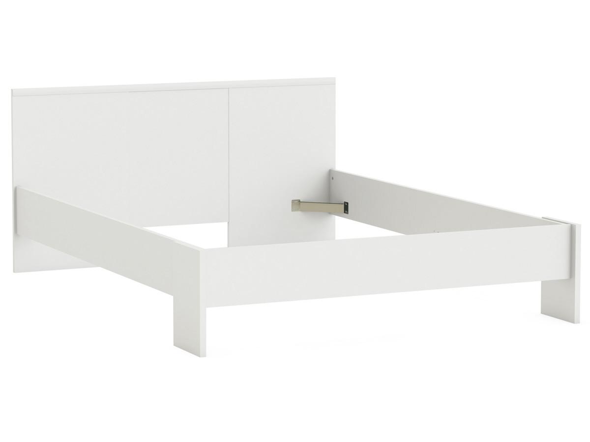 Lit Marty - 140 x 200 cm - Blanc perle