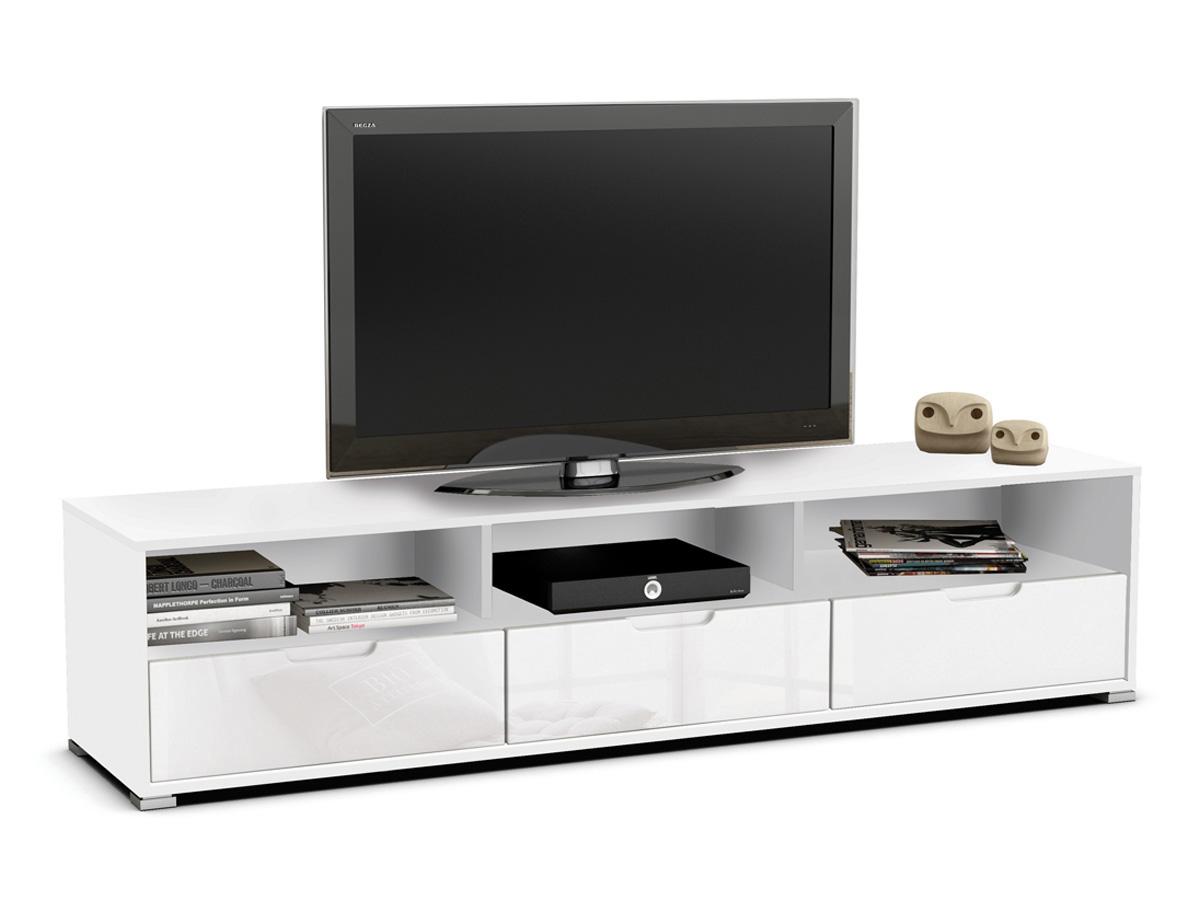 Meuble TV Clio - 180 x 41,5 x 42,3 cm - Perle