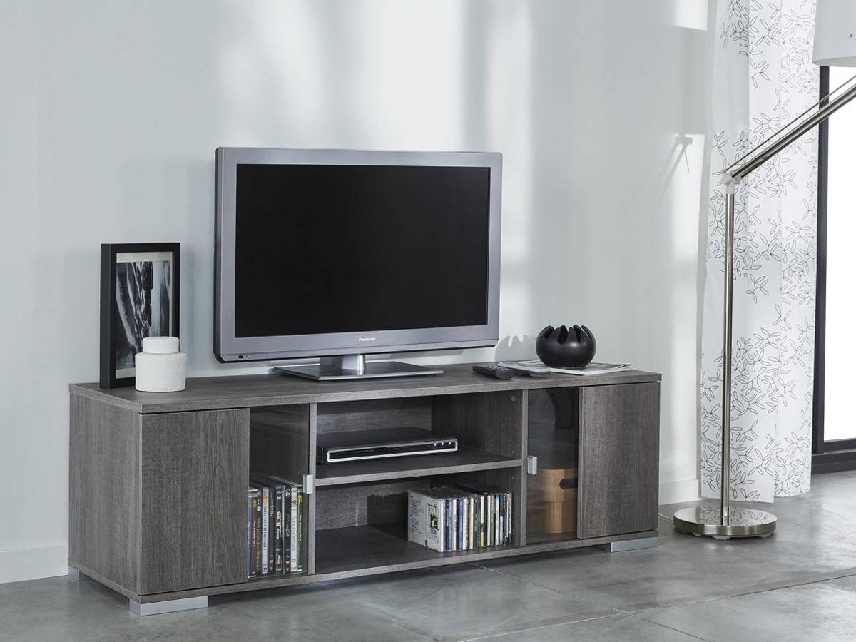 Meuble TV Namur - 139 x 41.7 x 43.4 cm - Chêne prata