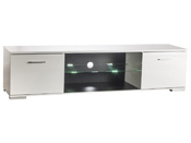 "Meuble TV ""Icy"" - 179,3 x 42 x 43 cm - Blanc perle"