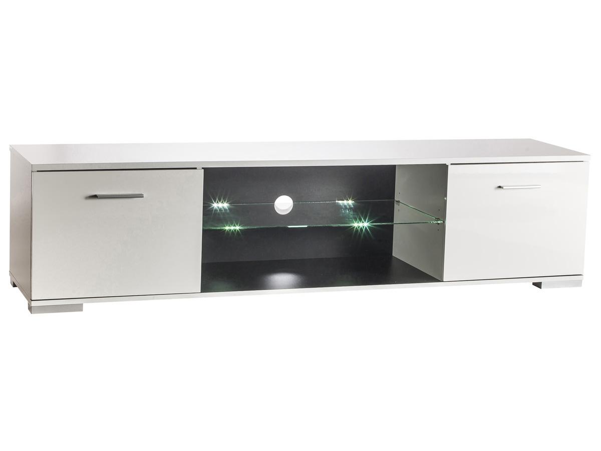 Meuble TV Icy - 179,3 x 42 x 43 cm - Blanc perle