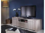"Meuble TV ""Duchess"" - 147.7 x 42.3 x 43.4 cm - Chêne shannon"