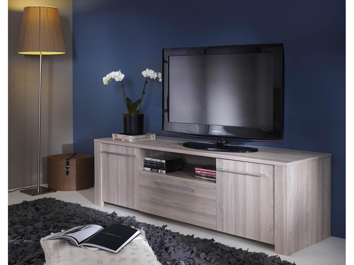 Meuble TV Duchess - 147.7 x 42.3 x 43.4 cm - Chêne shannon