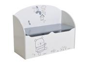 """Coffre à jouets """"Bear"""" - 69,3 x 29.3 x 54,3 cm - Coloris blanc/gris"""