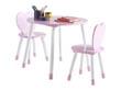 """Set table + 2 chaises enfant """" Princess """" - Blanc / Rose"""
