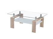 "Table basse ""Cyber"" - 110 x 60 x 45 cm - Chêne brut"