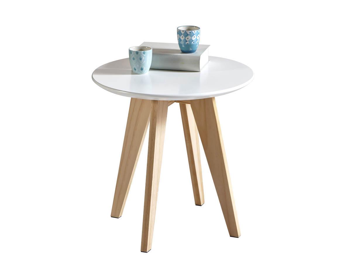 Table basse Rondo - 40 x 40 x 40 cm - Blanc