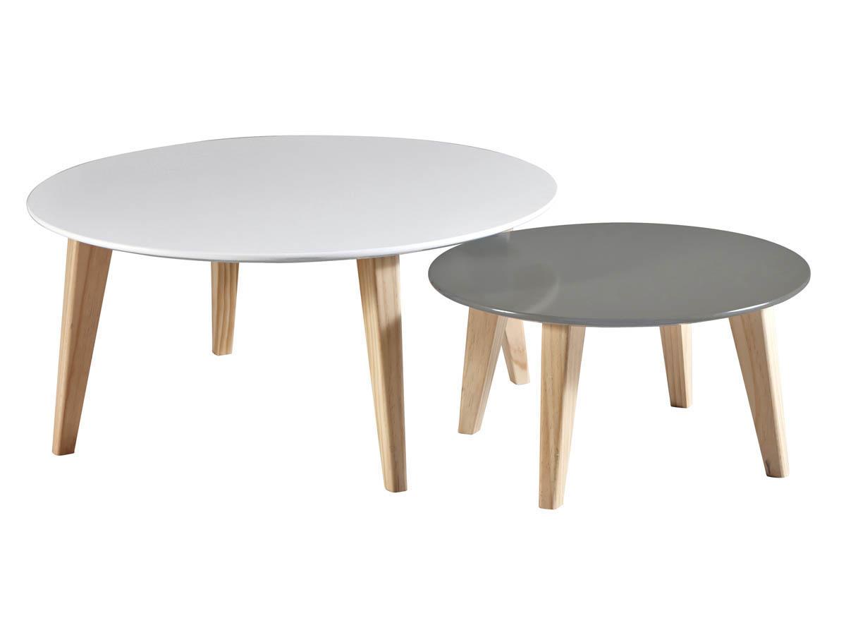 Tables basses Round - 78 x 78 x 35 cm - Blanc