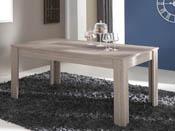 "Table repas ""Duchess"" - 170.1 x 89.7 x 77.2 cm - Chêne shannon/béton clair"