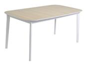 """Table de séjour extensible """"Block"""" - 160/200 x 90 x 76 cm - Décor chêne"""
