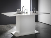 "Table repas ""Icy"" -  170 x 90 x 77 cm - Blanc brillant"