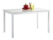 "Table repas extensible ""Kiara"" - 110/170 x 70 x 75 cm - Coloris blanc"