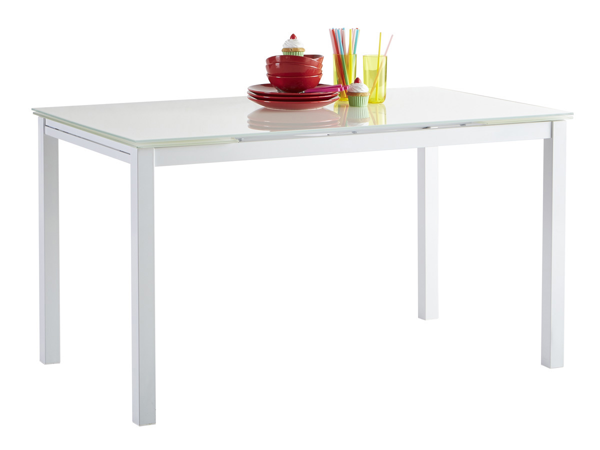 Table repas extensible kiara 110 170 x 70 x 75 cm for Table extensible 75 x 75
