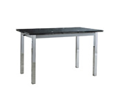 "Table repas extensible ""Kiara"" - 120/180 x 80 x 75 cm - Coloris noir"
