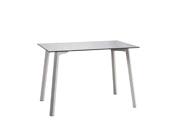 """Table de séjour """"New Luna"""" - 110 x 70 x 75 cm - Coloris blanc"""