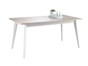 "Table ""Nature"" - 160 x 90 x 76,4 cm - Blanc perle"