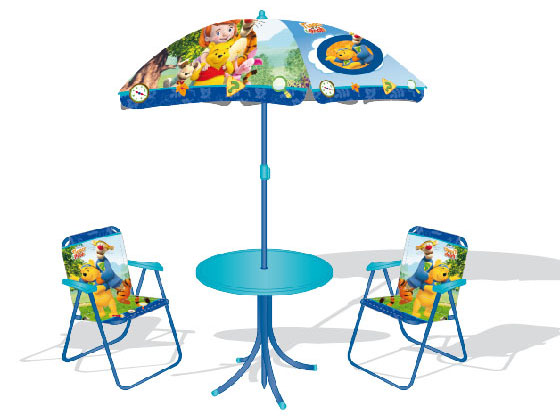 Mobilier d 39 enfants salon de jardin winnie l 39 ourson 27289 - Table et chaise winnie l ourson ...