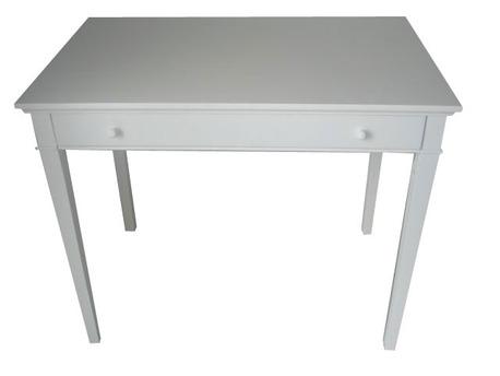 Console - Table guéridon - Coloris Blanc - 1 tiroir