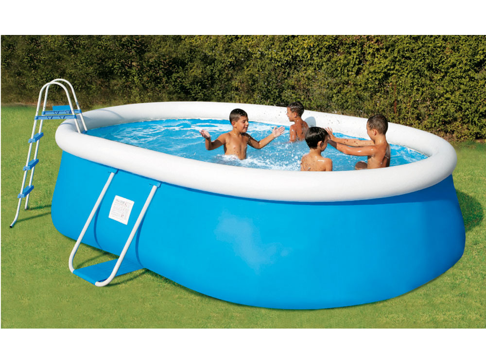 Piscine autoportante en kit tubulaire ovale tropea 550 x x m 47013 for Piscine auto portante