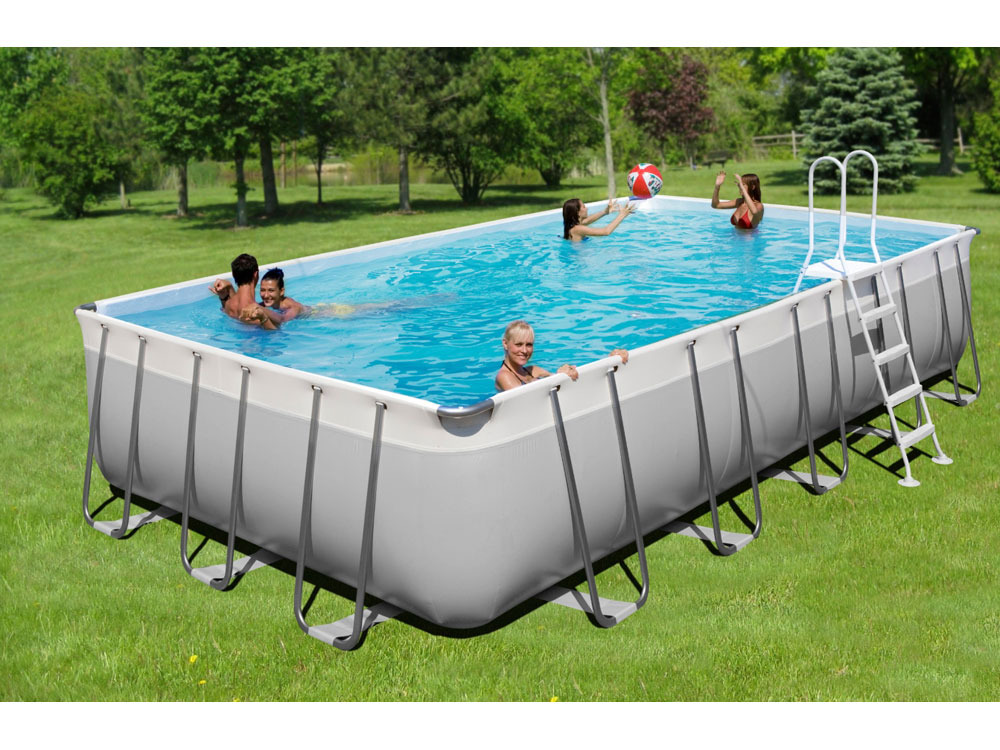 Piscine autoportante tubulaire allong e prestige 800 7 for Piscine autoportee bois rectangulaire