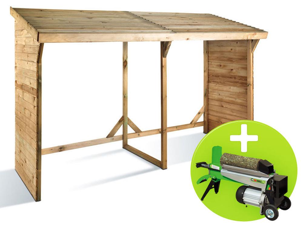pack abri b ches 5 st res fendeur de b ches 6 tonnes. Black Bedroom Furniture Sets. Home Design Ideas