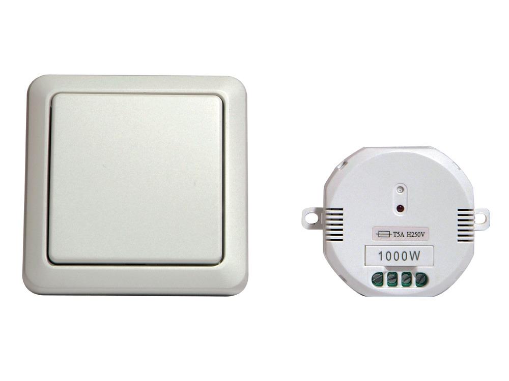 Interrupteur mural sans fil module on off 1000 w 61623 for Changer un interrupteur mural