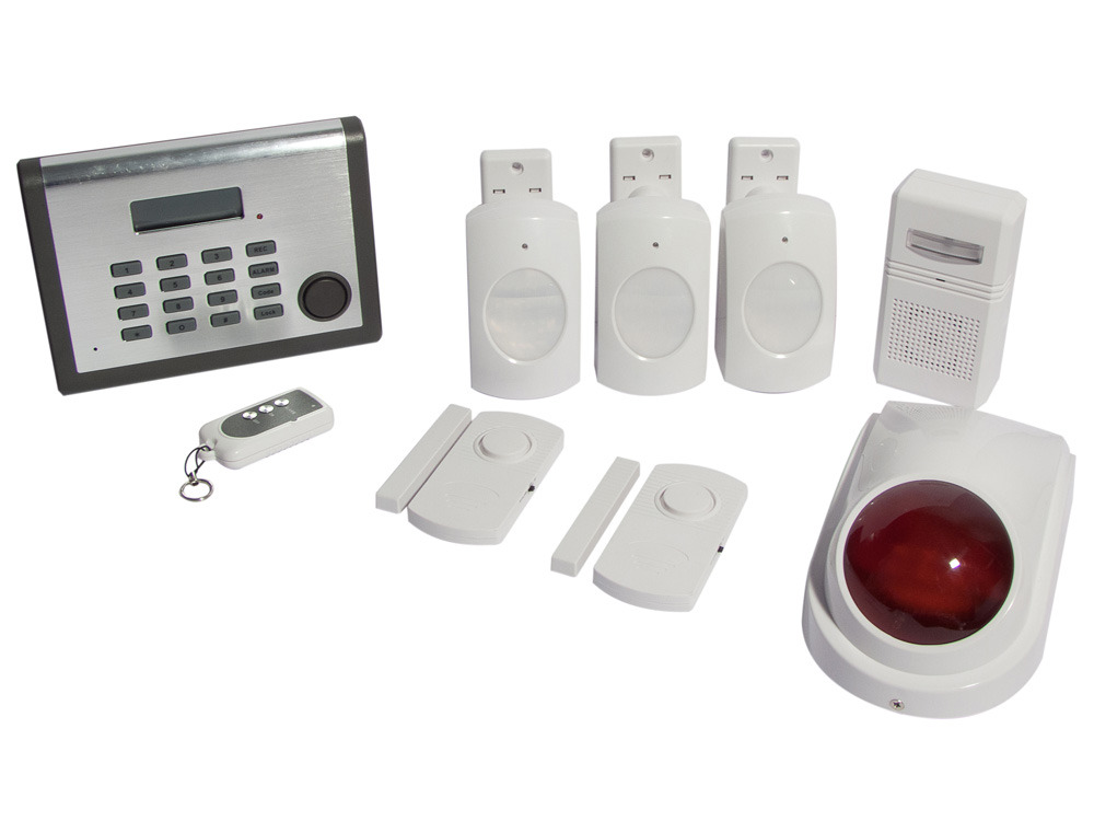Syst me d 39 alarme sans fil gsm 6 zones chacon 34770 for Prix systeme d alarme