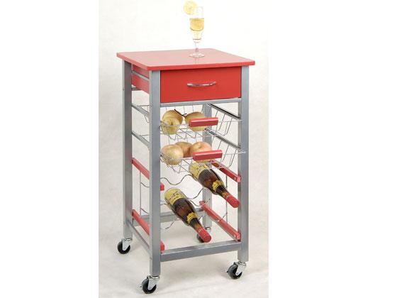 desserte de cuisine rouge 27782 27783. Black Bedroom Furniture Sets. Home Design Ideas