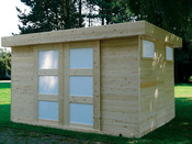 """Abri jardin """"Sjobo"""" - 10.49 m² - 3.62 x 2.89 x 2.07 m - 19 mm"""
