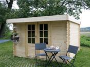 """Abri jardin """"Hof"""" - 6,89 m² - 2.52 x 2.74 x 1.92 m - 19 mm"""
