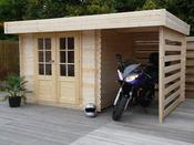 "Abri jardin ""Langres"" - 10.60 m² - 3.83 x 2.76 x  2,38 m - 28 mm"