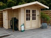 """Abri de jardin """"Joigny"""" - 10.16 m² - 3.33 x 3.05 x 2.39 m - 28 mm"""