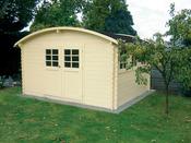 """Abri jardin """"Dainville 2"""" - 14.52 m² - 4.11 x 3.53 x 2.30 m - 28 mm"""