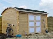"""Abri jardin """"Bonneville"""" - 12.59 m² - 3.92 x 3.21 m - 28 mm"""
