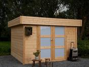 """Abri jardin """"Odense"""" 11.70 m² - 3.42 x 3.42 m - 28 mm"""