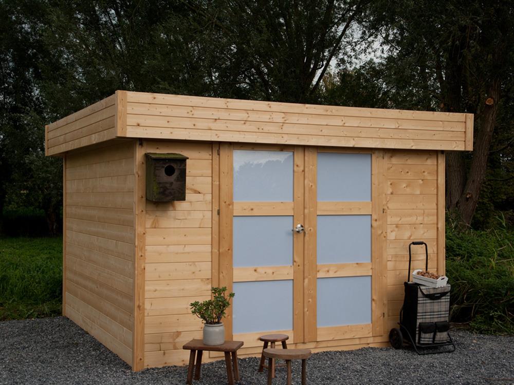 Emejing abri de jardin bois traite toit plat images for Bear county abri de jardin