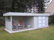 """Abri jardin bois """"Arhus"""" - 19.90 m² - 7 x 2.84 x 1.85 m - 28 mm"""