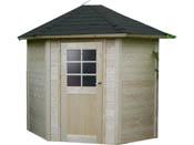 "Abri jardin bois ""Nancy"" - 5.25 m² - 3.45 x 2.44 x 2.68 m - 28 mm"