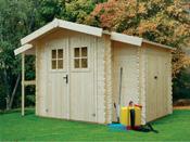 Abri jardin - 8,57 m² - 3.51 x 2.45 x 2.07 m - 19 mm.