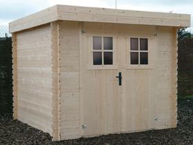 Abri de jardin - 6,43 m² -2.40 x 2.68 x 1,90 m - 19 mm.